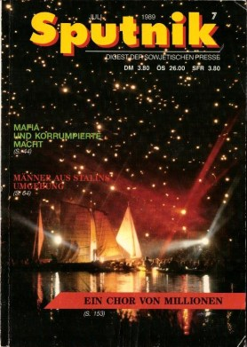 July 1989 issue of the banned Soviet media digest Sputnik (photo: author).