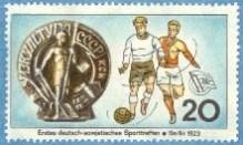 First encounter between Soviet and German footballers: Berlin, 1923.