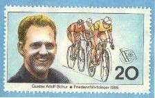 "East Germany's first international sporting hero, road cyclist Gustav ""Täve"" Schur."