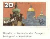 Dresden and Leningrad as partner cities.