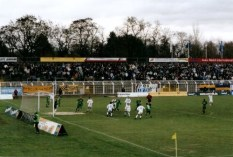 Scene from 2003/04 Sachsen Cup match between VfB and FC Sachsen at Bruno-Plache Stadium, Dec. 2003 . Won 2-1 by FCS (photo: author).