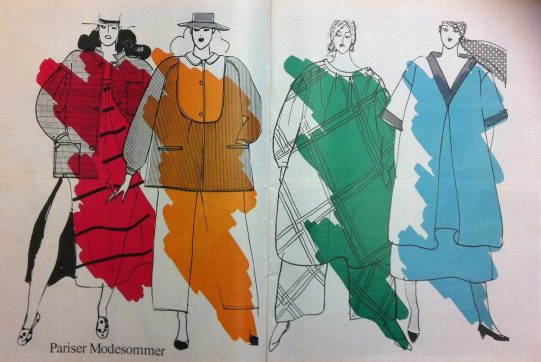 """""""Parisienne Summer Fashions"""" from Sibylle 1 1982."""