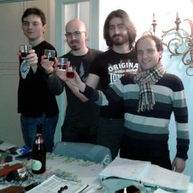 (da sinistra verso destra) Thanor Cuordimetallo, Giuseppe Cortesi, Nelium Oleander, Laren Dorr