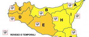 El mal tiempo vuelve a Sicilia: alerta naranja, vientos fuertes y tormentas eléctricas esperadas