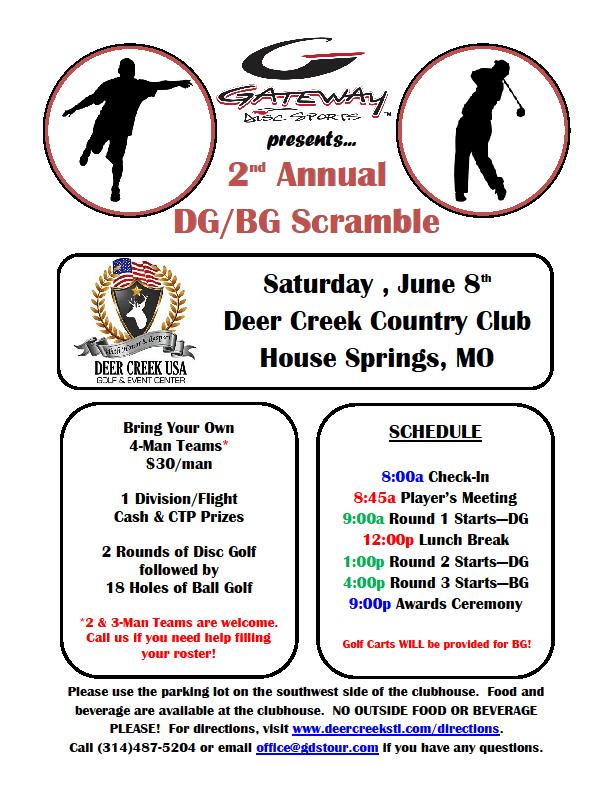 Poster for Ball Golf/Disc Golf Tournament
