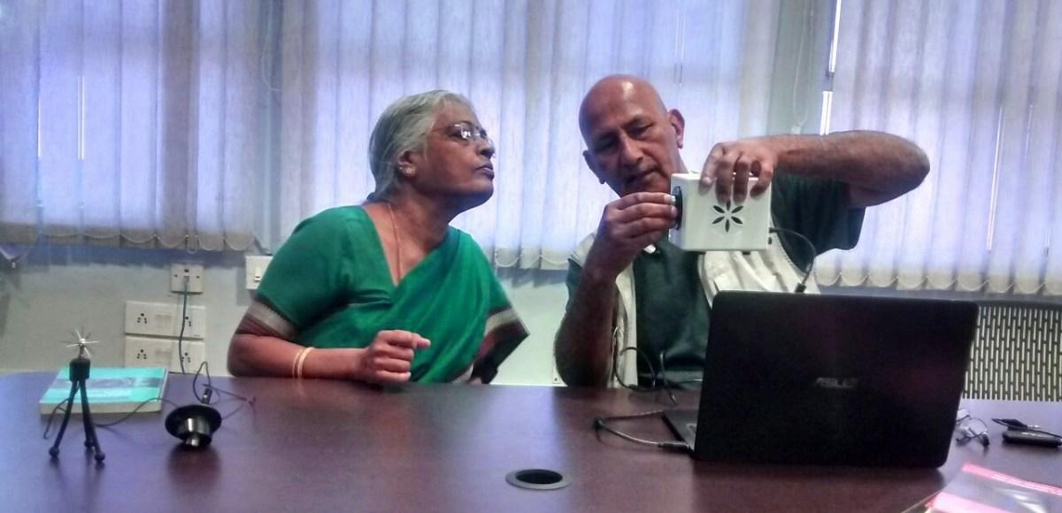 Krishna teaching at KYM Research Center