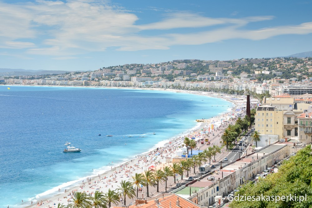 Panorama view of French Riviera. Picture taken in Nice, France.