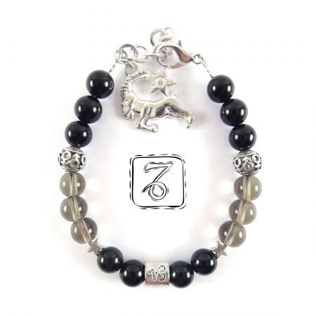 Bracciale Zodiaco donna Capricorno nero