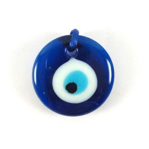Ciondolo Occhio di Allah vetro blu
