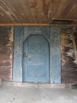 Biserica de lemn - Lacu - Usa intrare