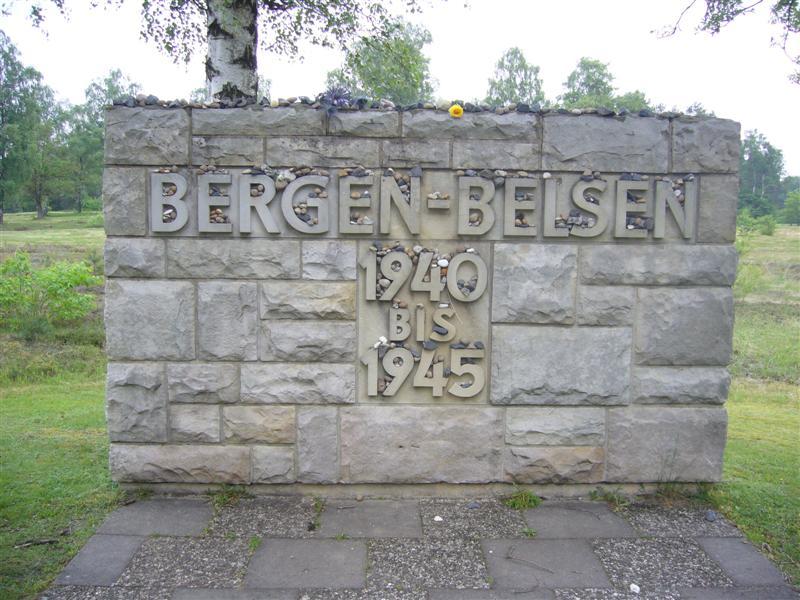 Anne Frank's marker at Bergen Belsen (1/2)