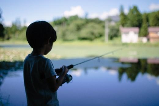 野池で初釣り