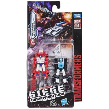 Transformers War For Cybertron Siege Red Heat and Stakeout Micromasters DAMAGED PACKAGING
