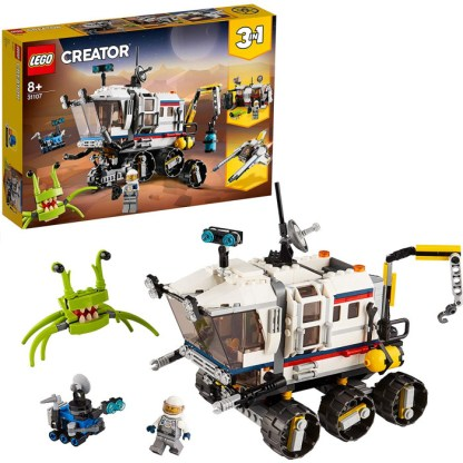 LEGO Creator 31107 3in1 Space Rover Explorer, Base & Shuttle Flyer Building Set