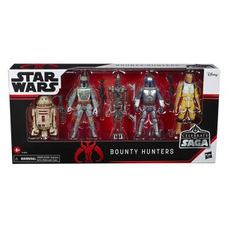 Star Wars Celebrate The Saga Pack of 5 Bounty Hunters Action Figures
