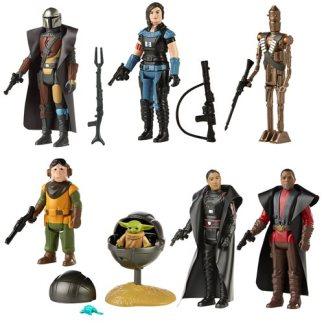 Star Wars Mandalorian Retro Collection Set of 7 Action Figures