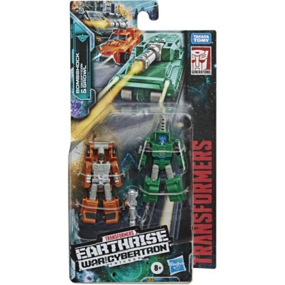 Transformers Earthrise Micromasters Bombshock & Growl Action Figures