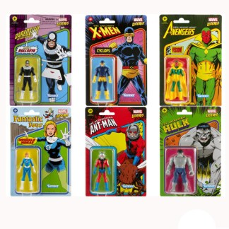 Marvel Legends Recollect Wave 3 Set of 6 Action Figure Toys - Grey Hulk, Cyclops, Vision, Ant-Man, Invisible Woman and Bullseye