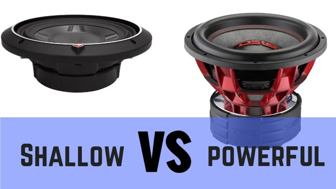 shallow mount vs regular subwoofers