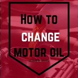 How to change motor oil