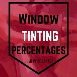 Window tinting percentages