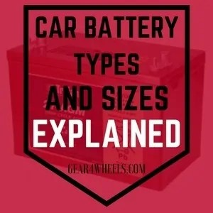 car battery types and sizes
