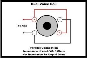 Dual voice coil parallel Connection
