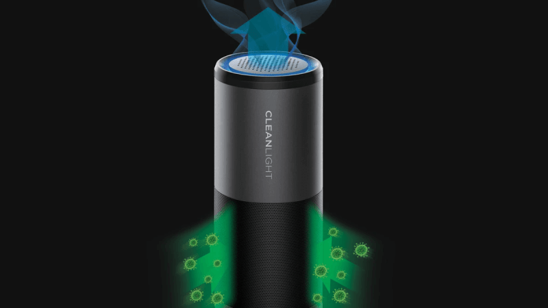CleanLight Air works with aromatherapy to purify your air on the go