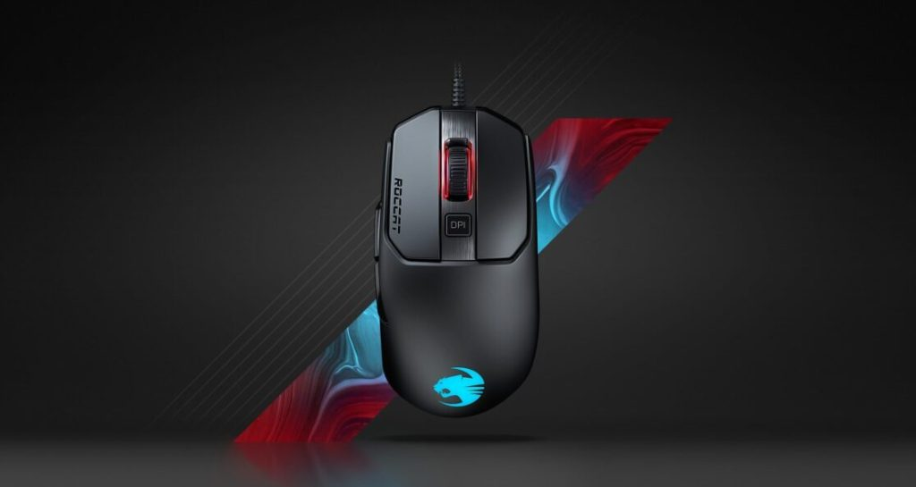 The Roccat Rain 120 Aimo gaming mouse.
