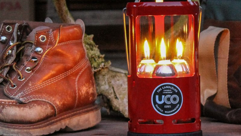 The UCO Candlelier provides safe and reliable light without needing batteries