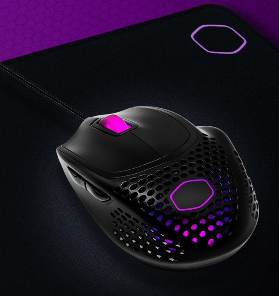Embrace a new level of ergonomic comfort with the Cooler Master MM720 Mouse