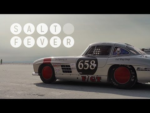 Mercedes 300SL Gullwing at Bonneville 1