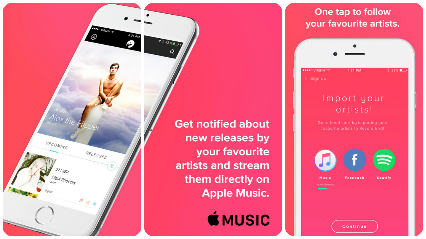 RecordBird – Never Miss New Music Releases With Apple Music Again 3