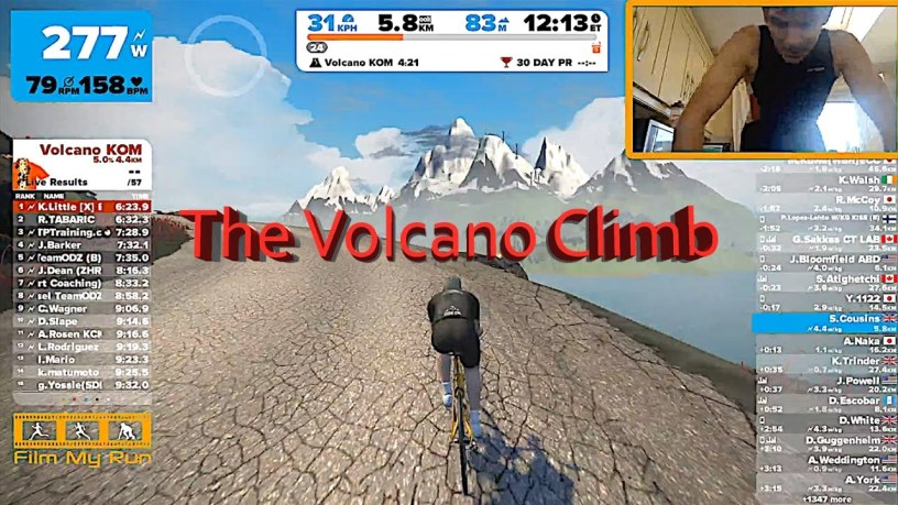 Now You Can Climb the Volcano in Zwift