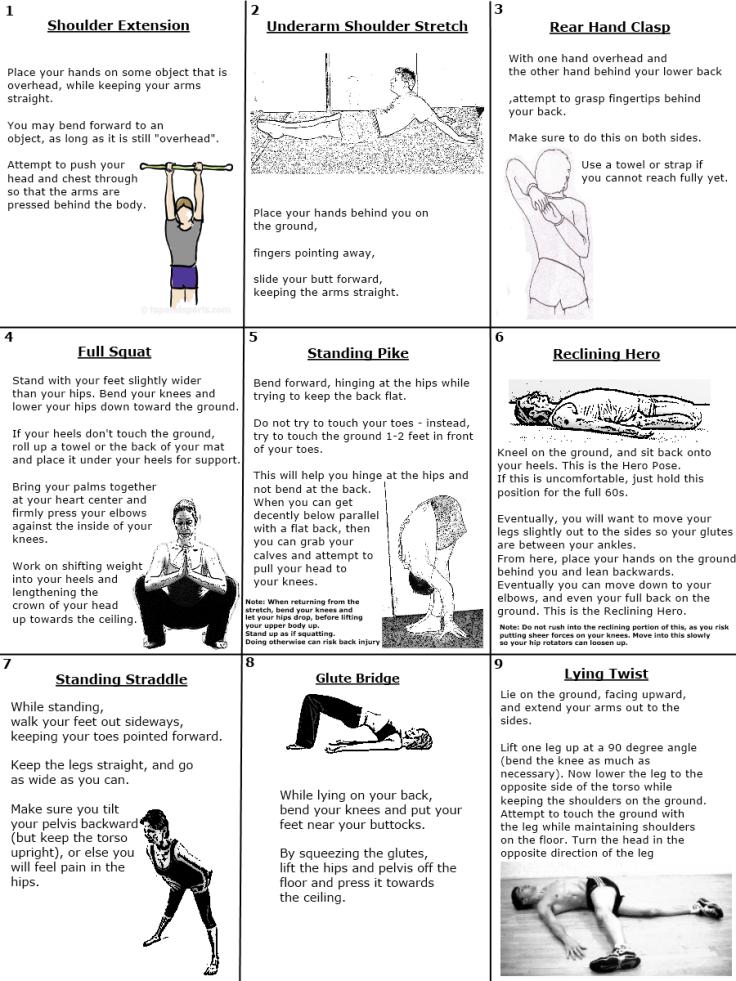 Starting Stretching