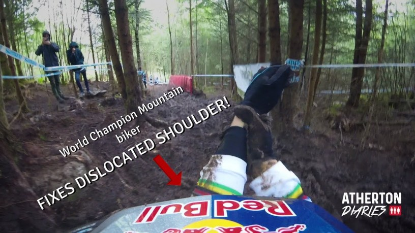 Watch Rachel Atherton Fix Her Own Dislocated Shoulder – And Get Back on Her Bike