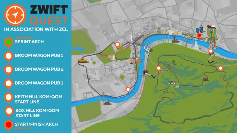ZwiftQuest Turns Virtual Training Into Adventures in Orienteering