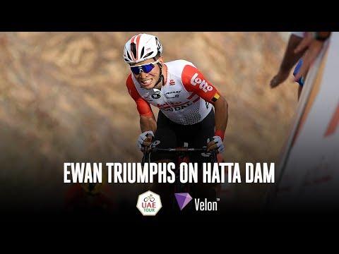 Caleb Ewan's Brutal Uphill Sprint Finish at UAE Tour 1