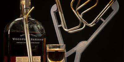 Silca Bourbon Ti Bottle Cages and Ti Straw