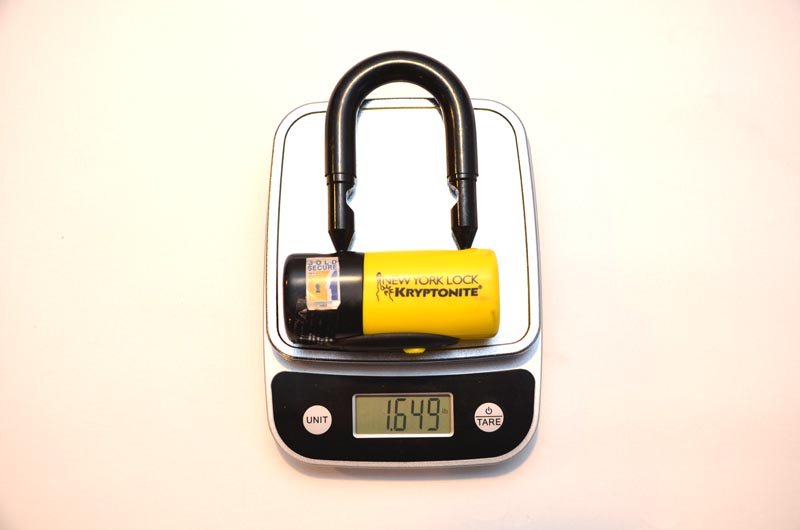 OnGuard vs Kryptonite Bike Lock Weight 2