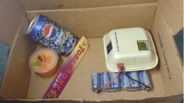 DIY Mini Desktop Air Conditioner with Ice, a Burger Box and Small Fan