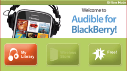 Audible BlackBerry App Review