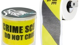 Crime scene toilet paper is a perfect gift for that Uncle you see once a year during holidays