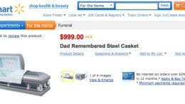 Walmart Selling Caskets Online