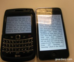 GearDiary Review:  Kindle for BlackBerry