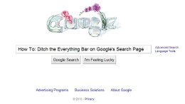 Ditch the Everything Bar on Google's Search Page