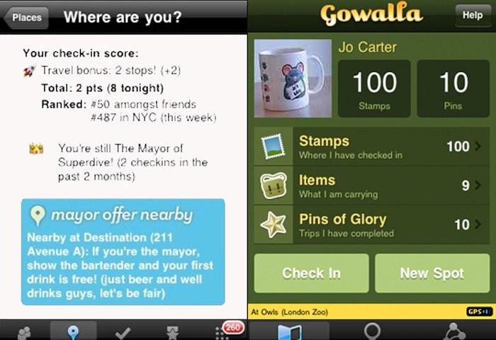 Gowalla vs Foursquare