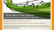 Music Forte Goes Digital With Sheet Music!