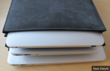 MacBook Air Gear: AUTUM Straight Jacket, an Insanely Simple Leather Laptop Sleeve