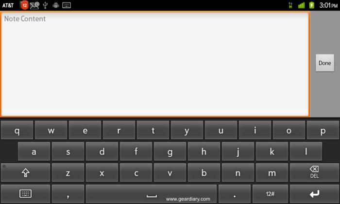 WritePad keyboard